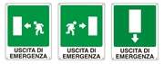 Cartello segnaletico emergenza