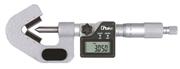 Micrometro digitale con incudine a prisma IP65