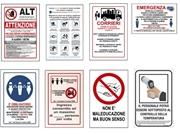 Cartelli segnaletici rischio e prevenzione